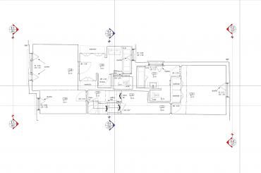 As-built 2D drawing floor plan